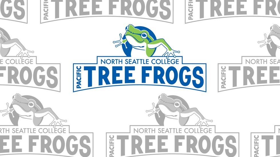 "NSC mascot logo: ""Star"" the Pacific Tree Frog"